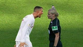 Female Referee vs Men Footballer ● Funny & Crazy Moments
