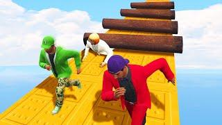 DODGE THE HEAVY STEEL PIPES CHALLENGE! (GTA 5 Funny Moments)