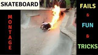 MIXS OF SKATEBOARD FAILS, FUN, TRICKS 2018! BEST SKATE & SKATEBOARDING & SKATING COMPILATION #3