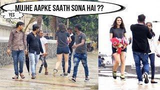 "Cute Girl Asking ""Mujhe Aapke Saath Sona Hai""(Sleep With Me Prank)|Pranks In India|The Japes"