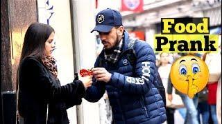Eating People's FOOD in LONDON Prank