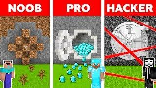Minecraft NOOB vs PRO vs HACKER: SECURE BANK ROBBERY in Minecraft / Funny Animation