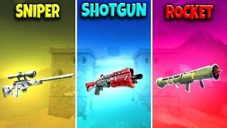 SNIPER vs SHOTGUN vs ROCKET in Fortnite Battle Royale! (Fortnite Funny Fails and Best Moments) #637