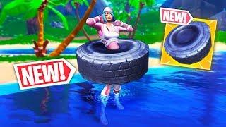 *NEW* TIRE SHIELD ITEM!! - Fortnite Funny WTF Fails and Daily Best Moments Ep. 971