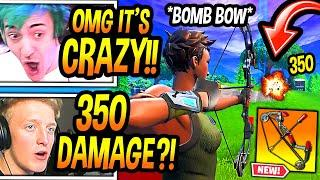 "Streamers *FIRST KILLS* With *NEW* ""EXPLOSIVE BOOM BOW!"" (OVERPOWERED) Fortnite EPIC & FUNNY Moments"
