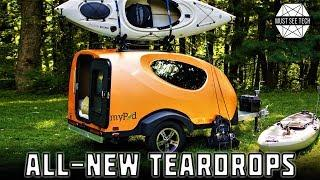 8 New Teardrop Trailers with Lightweight Body Designs and Built in Camping Gear