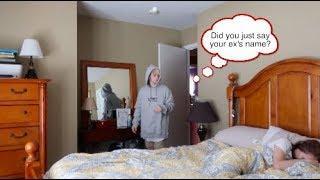 I SAID MY EX'S NAME IN MY SLEEP! (PRANK ON BOYFRIEND!)