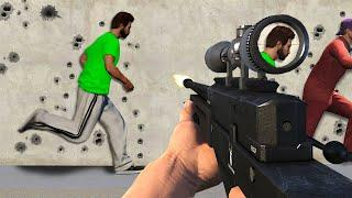 CAN YOU DODGE THE SNIPER BULLETS?! (GTA 5 Funny Moments)