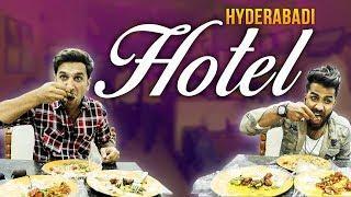 HYDERABADI HOTEL || Funny Prank at hotel || Kiraak Hyderabadiz