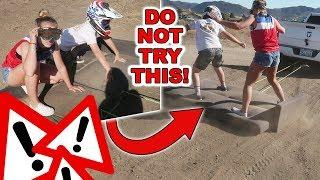 CRAZY COUCH SURFING AND  RIDING IN THE DESERT!