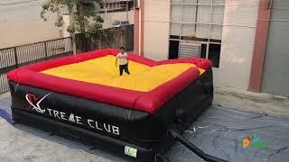 China factory testing inflatable big air bag, extreme sport jump bag,Parkour air bag