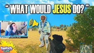 Shroud Gets Stream Sniped by Jesus Follower! (PUBG Funny Moments)