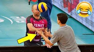 The Most Funny Moments in Volleyball History (HD)