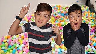 Easter egg PRANK! He filled BROTHER'S ROOM with Thousands of Easter eggs!