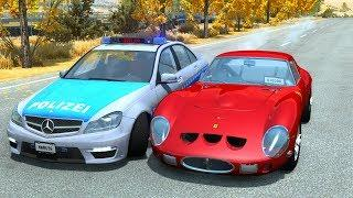 Extreme Police Car Chases Crashes/Fails #29 - BeamNG Drive Car Crashes Compilation
