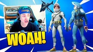 NINJA REACTS TO *NEW* CHOMP SR. SKIN! (LEGENDARY!)  - Fortnite Funny Fails & WTF Moments #67
