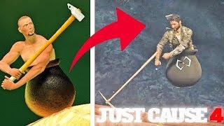 JUST CAUSE 4 - Getting Over It Mini-game Easter Egg