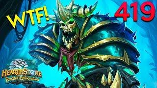 Hearthstone Daily WTF Funny Moments 419! Lucky and Epic Plays!