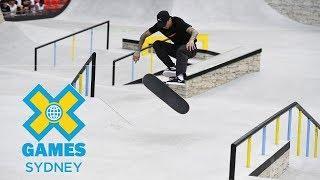 Luan Oliveira qualifies first in Skateboard Street | X Games Sydney 2018