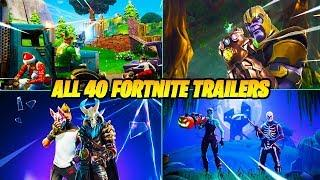 ALL 40 FORTNITE BATTLE ROYALE TRAILERS..!! (Season 5 - Season 1)