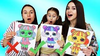 3 MARKER CHALLENGE With LOL Surprise by Funny Kids Songs