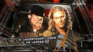 Undertaker vs Edge Extreme Rules World Championship Match - WWE Extreme rules 2008 Highlights HD