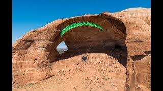 Paramotoring Moab Arches!! Will It Fit??!! Extreme Powered Paragliding With The SUPERS!!!