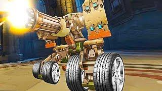 *NEW* Bastion on Wheels Game Mode!! - Overwatch Workshop Funny Moments & Fails #11