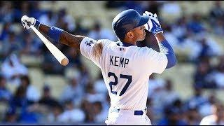 Matt Kemp Pull Back in Baseball Swing