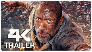 SKYSCRAPER Crane Jump Movie Clip + Trailer (4K ULTRA HD) NEW 2018  Dwayne Johnson Action Movie HD