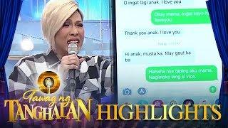 Jhong and Vice Ganda show the funny message of Vhong's mother | Tawag ng Tanghalan