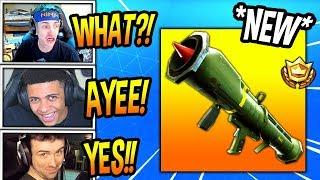 STREAMERS REACT TO THE GUIDED MISSILE COMING BACK! *LEGENDARY* Fortnite FUNNY & SAVAGE Moments