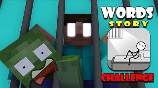 Monster School : WORDS STORY CHALLENGE - Funny Minecraft Animation