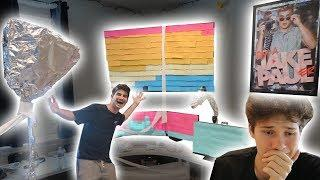 TIN FOIL, STICKY NOTE, AND TOILET PAPER PRANK ON JESSER!! (Prank war over?)