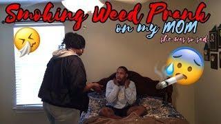 SMOKING WEED PRANK ON MOM!! (SHE WAS SO SAD)