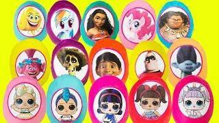 17 Play Doh Surprise Toy Eggs LOL Surprise DIY Bling King Prank, My Little Pony, Trolls,