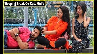 Sleeping Prank On Cute Girl's - Epic Reactions  Pranks In India  By TCI