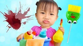Funny Kids Baby Clean Bed Room With Mom Pretend Play Time By Boong Candy Family