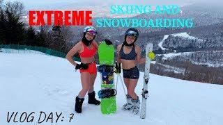 (VLOG DAY : 7) EXTREME SKIING AND SNOWBOARDING
