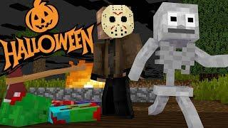 Monster School : HALLOWEEN HORROR MOVIE CHALLENGE FRIDAY THE 13TH JASON - Funny Minecraft Animation