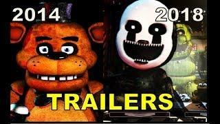 FNAF 1 2 3 4 5 6 WORLD Ultimate Custom Night TRAILERS (2014 - 2018)