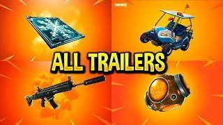 Fortnite All *NEW ITEM* Trailers (Silenced Scar, Freeze Trap, Port-A-Fortress)