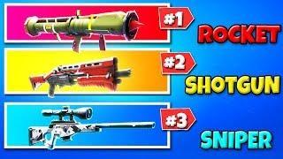 ROCKET vs SHOTGUN vs SNIPER in Fortnite Battle Royale! (Fortnite Funny Fails and Best Moments!)