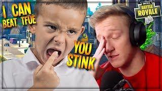 COCKY TFUE FANBOY SAYS HE'S THE GREATEST FORTNITE PLAYER EVER! (Funny Fortnite Trolling)