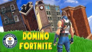 WORLD RECORD - Longest Domino Ever in Fortnite | Twitch Funny Moments #99