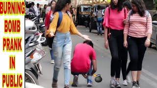 Burning BOMB in Public |Diwali Prank|Prank In India