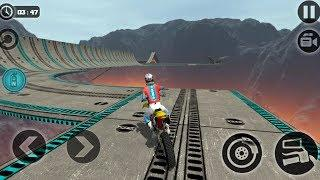 Impossible Motor Bike Tracks - Android Gameplay HD - Extreme Sports Bike Stunts Games For Kids
