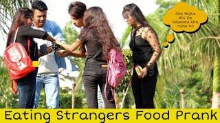 Eating Girl's Food Prank On Cute Girls | Prank Star| Ft-Shelly Sharma|
