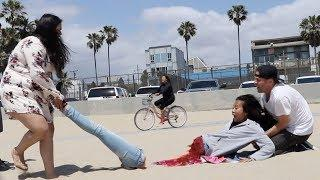 Half Woman Prank???? -Julien Magic