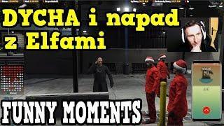 """Isamu """"DYCHA"""" i napad z Elfami/Gta V RP - Funny Moments/Najlepsze akcje z live/skrót z live #5"""